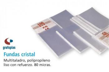 FUNDA MULTITALADRO CRISTAL PP 80 MICRAS A-4