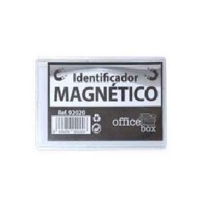 IDENTIFICADOR CON CLIP MAGNETICO PLASTICO RIGIDO 65X100 MM.