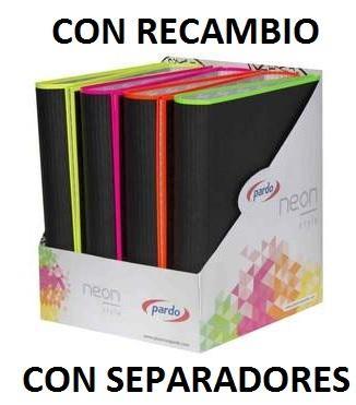 CARPETA CUADERNO 4/20 MMS CON BLOC Y SEPARADOR BORDES NE N