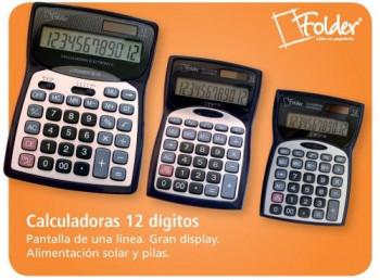 CALCULADORA 12 DIGITOS FOLDER GRANDE