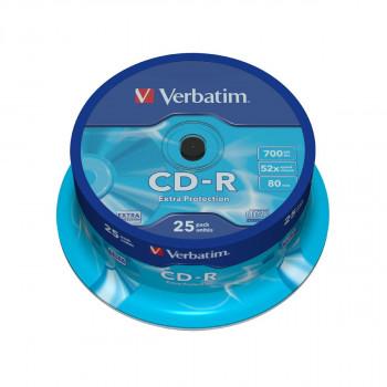 CD-R VERBATIM 52X 700 MB SPINDLE 25