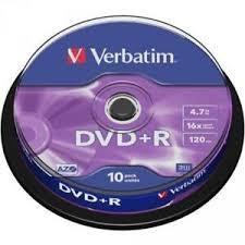 DVD-R VERBATIM PACK DE 10