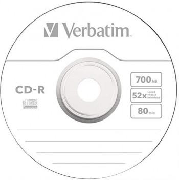 VERBATIM CD-R 700MB UNIDAD