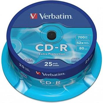 VERBATIM CD-R 700MB TARRINA 25 UNID
