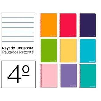 BLOC ESPIRAL 4º RAYADO HORIZONTAL WITTY TAPA DURA